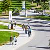 "Pedestrians make their way along Koyukuk Drive on UAF's West Ridge on an August afternoon.  <div class=""ss-paypal-button"">Filename: CAM-12-3505-28.jpg</div><div class=""ss-paypal-button-end"" style=""""></div>"