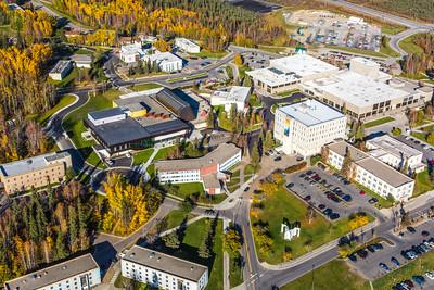Aerial photo of the Fairbanks campus.  Filename: CAM-14-4311-246.jpg