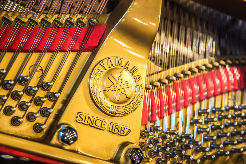 "Detail photo of the Yamaha grand piano on the stage in the Davis Concert Hall on the Fairbanks campus.  <div class=""ss-paypal-button"">Filename: CAM-13-3704-121.jpg</div><div class=""ss-paypal-button-end"" style=""""></div>"