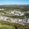 """An aerial view of UAF looking north at about 11:15 on Sept. 10, 2016, showing construction of the new combined heat and power plant being built adjacent to the existing unit which has been in use since the 1960s.  <div class=""""ss-paypal-button"""">Filename: CAM-16-4992-029.jpg</div><div class=""""ss-paypal-button-end""""></div>"""