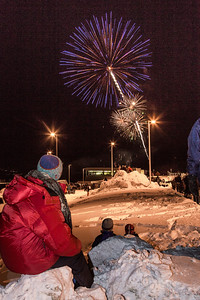 Hundreds of Fairbanks community members enjoyed the New Years' Eve fireworks display from UAF's West Ridge.  Filename: CAM-12-3687-11.jpg