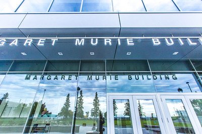 The newly opened Margaret Murie Building on UAF's West Ridge is home to the Department of Biology and Wildlife.  Filename: CAM-13-3928-204.jpg