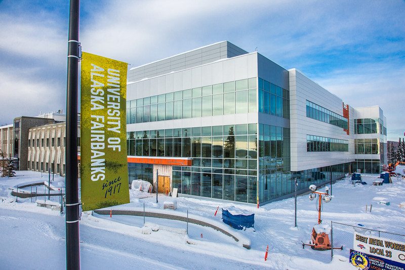 "New street banners help add color and a consistent branded message at various locations around the Fairbanks campus.  <div class=""ss-paypal-button"">Filename: CAM-13-3722-121.jpg</div><div class=""ss-paypal-button-end"" style=""""></div>"