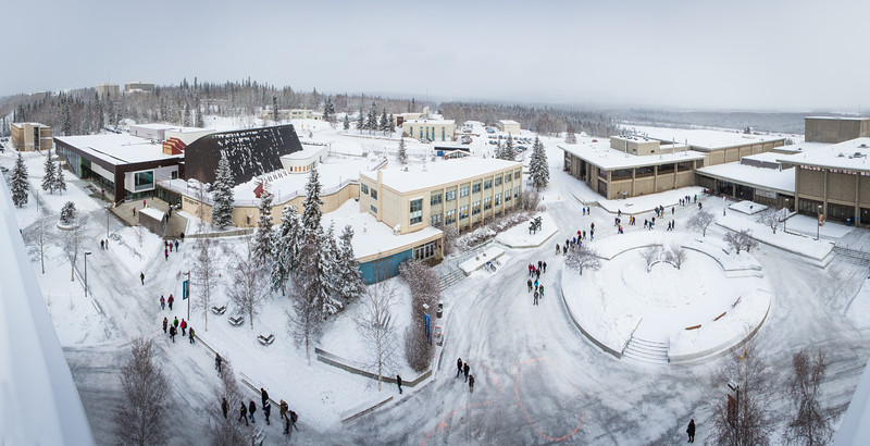 """The winter view from the rooftop of the Gruening Building overlooking the Cornerstone Plaza.  <div class=""""ss-paypal-button"""">Filename: CAM-16-4850-160.jpg</div><div class=""""ss-paypal-button-end""""></div>"""