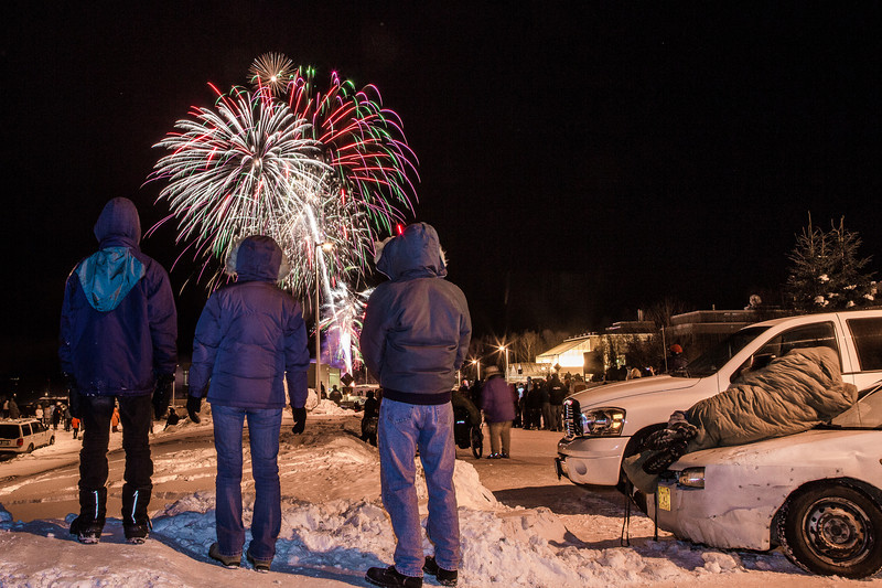 "Hundreds of Fairbanks community members enjoyed the New Years' Eve fireworks display from UAF's West Ridge.  <div class=""ss-paypal-button"">Filename: CAM-12-3687-57.jpg</div><div class=""ss-paypal-button-end"" style=""""></div>"