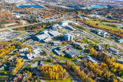 Aerial photo of the Fairbanks campus.  Filename: CAM-14-4311-294.jpg