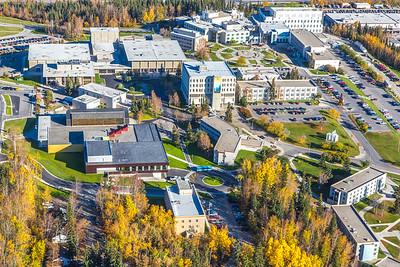 Aerial photo of the Fairbanks campus.  Filename: CAM-14-4311-298.jpg
