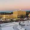 "The pastel colors of a December morning light the sky over the UAF campus in Fairbanks.  <div class=""ss-paypal-button"">Filename: CAM-15-4756-052.jpg</div><div class=""ss-paypal-button-end""></div>"