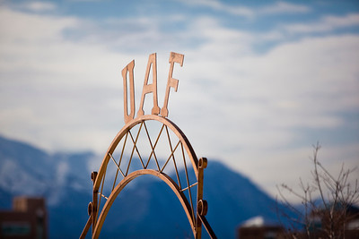 This iconic sign graces a gate to one of the prime fields at the SNRAS Research Station in Palmer.  Filename: CAM-11-3023-023.jpg