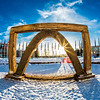 "The 2013 ice arch, designed and built on the Fairbanks campus each spring by engineering students, was constructed of pykrete - a combination of water and sawdust.  <div class=""ss-paypal-button"">Filename: CAM-13-3756-28.jpg</div><div class=""ss-paypal-button-end"" style=""""></div>"