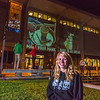 "Undergraduate Teal Rogers poses during a late night promotional video shoot  by the Rasmuson Library.  <div class=""ss-paypal-button"">Filename: CAM-13-3925-197.jpg</div><div class=""ss-paypal-button-end"" style=""""></div>"