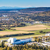 "Denali is seen on the horizon behind the University of Alaska Museum of the North on the UAF campus in an aerial photograph taken about 11:20 on Sept. 10, 2016.  <div class=""ss-paypal-button"">Filename: CAM-16-4992-088.jpg</div><div class=""ss-paypal-button-end""></div>"