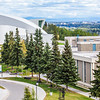 "The distinctive University of Alaska Museum of the North, at left, dominates the view from UAF's West Ridge.  <div class=""ss-paypal-button"">Filename: CAM-12-3505-03.jpg</div><div class=""ss-paypal-button-end"" style=""""></div>"