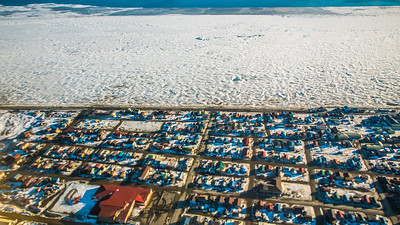 The hub community of Nome, on the banks of Norton Sound on Alaska's Seward Peninsula, is home to UAF's Northwest Campus.  Filename: CAM-16-4865-276.jpg