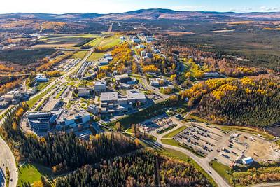 Aerial photo of the Fairbanks campus.  Filename: CAM-14-4311-447.jpg