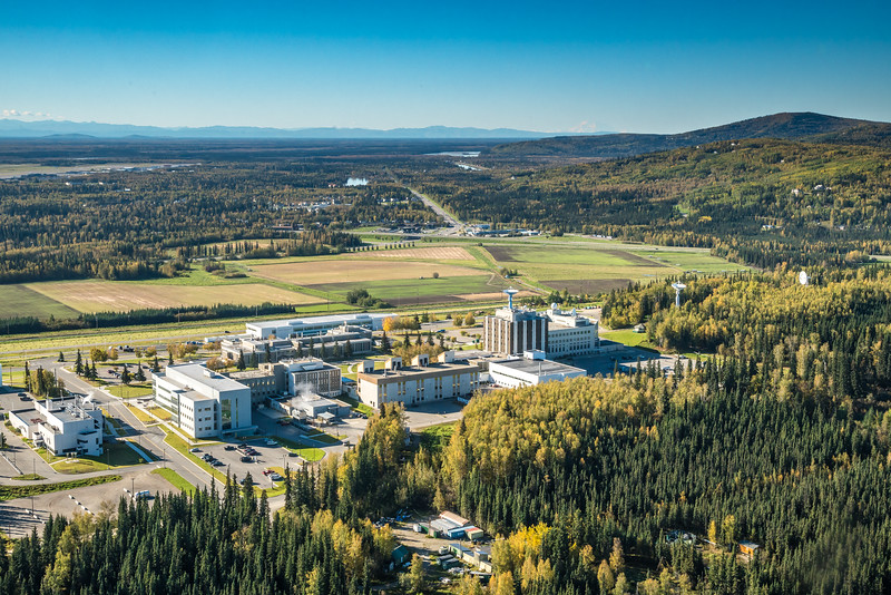 "Denali is seen on the horizon behind UAF's West Ridge in an aerial photograph taken about 11:20 on Sept. 10, 2016.  <div class=""ss-paypal-button"">Filename: CAM-16-4992-089.jpg</div><div class=""ss-paypal-button-end""></div>"