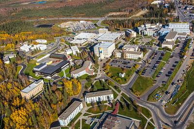 Aerial photo of the Fairbanks campus.  Filename: CAM-14-4311-239.jpg