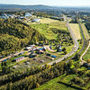 "An aerial view of UAF looking east toward Fairbanks at about 11:15 a.m. on Sept. 10, 2016. The experiment farm operated by the School of Natural Resources and Extension is featured in the lower center of this photo.  <div class=""ss-paypal-button"">Filename: CAM-16-4992-006.jpg</div><div class=""ss-paypal-button-end""></div>"