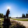 """A statue near the center of campus pays tribute to Charles Bunnell, the university's first president.  <div class=""""ss-paypal-button"""">Filename: CAM-12-3540-12.jpg</div><div class=""""ss-paypal-button-end"""" style=""""""""></div>"""