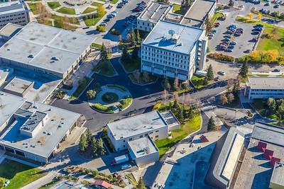 Aerial photo of the Fairbanks campus.  Filename: CAM-14-4311-289.jpg
