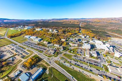 Aerial photo of the Fairbanks campus.  Filename: CAM-14-4311-311.jpg