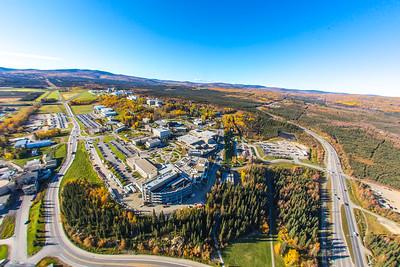 Aerial photo of the Fairbanks campus.  Filename: CAM-14-4311-322.jpg