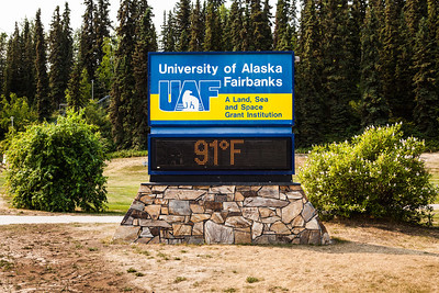 The temperature reached 90 degrees at the time and temperature sign in late June of 2013.  Filename: CAM-13-3868-17.jpg