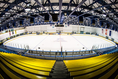 The Patty Center Ice Arena lies empty at the early morning hours in the summer.  Filename: CAM-13-3873-10.jpg