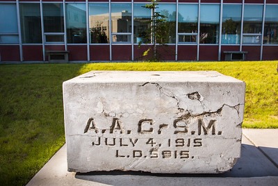 The UAF Cornerstone sits next to the engineering building and the Bunnell Building on the Fairbanks campus.  Filename: CAM-16-4933-23.jpg