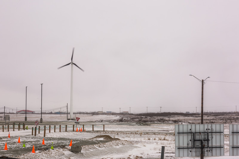 "Frequent high winds sweeping through Southwest Alaska are being harnessed to help reduce high energy costs, as evidenced by this windmill spinning in Bethel.  <div class=""ss-paypal-button"">Filename: CAM-16-4859-180.jpg</div><div class=""ss-paypal-button-end""></div>"