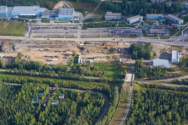 """Construction of a new utility line during summer of 2012 caused a major disruption to the Fairbanks campus.  <div class=""""ss-paypal-button"""">Filename: CAM-12-3497-068.jpg</div><div class=""""ss-paypal-button-end"""" style=""""""""></div>"""