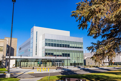 The Murie Building, opened in summer 2013,  is home to UAF Department of Biology and Wildlife.  Filename: CAM-13-3972-73.jpg