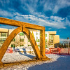 "The 2013 ice arch, designed and built on the Fairbanks campus each spring by engineering students, was constructed of pykrete - a combination of water and sawdust.  <div class=""ss-paypal-button"">Filename: CAM-13-3756-22.jpg</div><div class=""ss-paypal-button-end"" style=""""></div>"