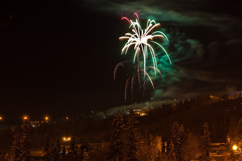 "Fireworks light up the sky above UAF's West Ridge during the annual New Year's Eve Sparktacular. The event is organized by Mike Thomas, owner of University Chevron, and is sponsored by a group of Fairbanks community groups and businesses listed at this link: http://www.uafnews.com/headlines/community-invited-to-sparktacular-celebration.  <div class=""ss-paypal-button"">Filename: CAM-11-3251-53.jpg</div><div class=""ss-paypal-button-end"" style=""""></div>"