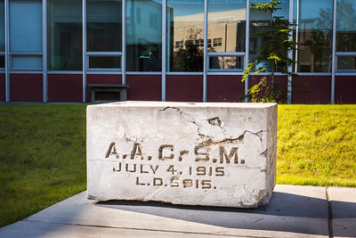 The UAF Cornerstone sits next to the engineering building and the Bunnell Building on the Fairbanks campus.  Filename: CAM-16-4933-7.jpg
