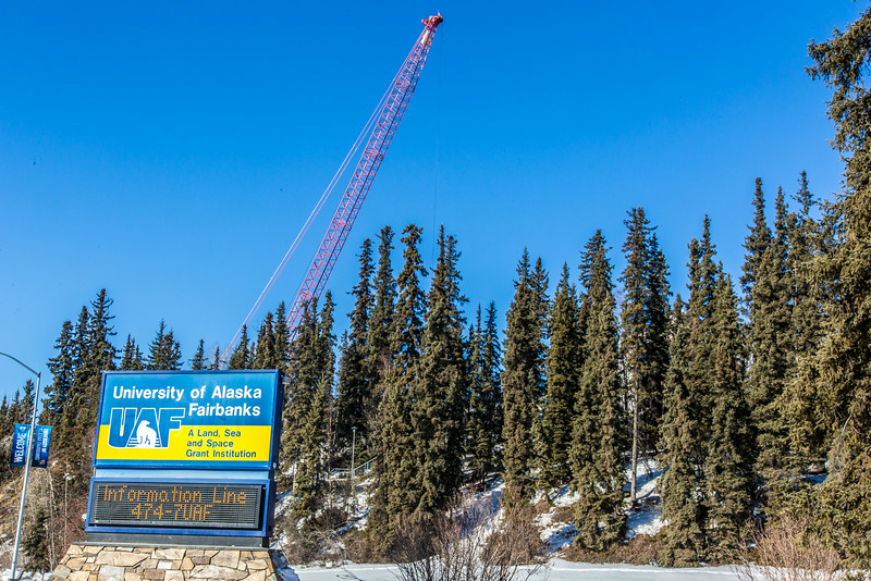 "A 260-foot crane is being used to load steel beams at the construction site of the new engineering facility.  <div class=""ss-paypal-button"">Filename: CAM-14-4128-18.jpg</div><div class=""ss-paypal-button-end""></div>"