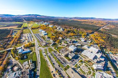 Aerial photo of the Fairbanks campus.  Filename: CAM-14-4311-316.jpg