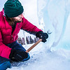 "Ronald Daanen, a research assistant professor with UAF's Institute of Northern Engineering, puts some finishing touches on an ice carving of a hibernating bear in front of the University of Alaska Museum of the North Monday afternoon.  <div class=""ss-paypal-button"">Filename: CAM-13-3701-6.jpg</div><div class=""ss-paypal-button-end"" style=""""></div>"