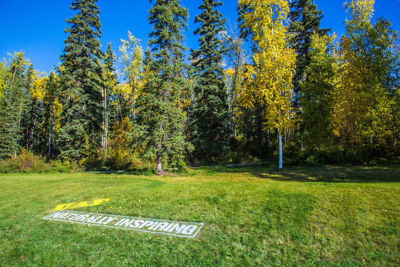 """UAF's new brand tagline greets visitors to the west entrance to campus.  <div class=""""ss-paypal-button"""">Filename: CAM-12-3539-35.jpg</div><div class=""""ss-paypal-button-end"""" style=""""""""></div>"""