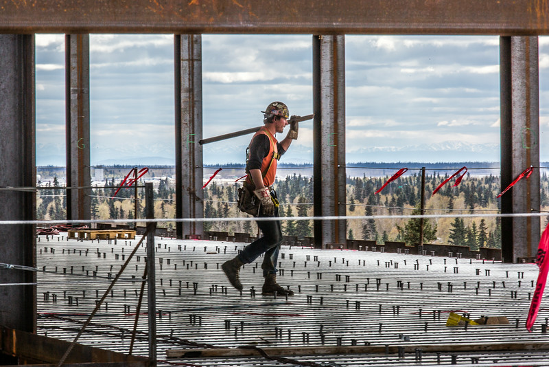 """Construction is underway in May, 2014 on UAF's new engineering facility.  <div class=""""ss-paypal-button"""">Filename: CAM-14-4177-41.jpg</div><div class=""""ss-paypal-button-end""""></div>"""