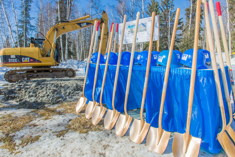 """Shovels and hardhats await use before the official groundbreaking ceremony on an addition to the Wood Center, funded through a private-public partnership.  <div class=""""ss-paypal-button"""">Filename: CAM-13-3771-08.jpg</div><div class=""""ss-paypal-button-end"""" style=""""""""></div>"""