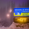 "A frigid January morning on the Fairbanks campus as evidenced by the time and temperature sign on Alumni Drive.  <div class=""ss-paypal-button"">Filename: CAM-13-3708-7.jpg</div><div class=""ss-paypal-button-end"" style=""""></div>"