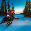 "Ski trails manager Jason Garron grooms the skate ski track on the UAF trails early on a cold February morning.  <div class=""ss-paypal-button"">Filename: CAM-16-4818-50.jpg</div><div class=""ss-paypal-button-end""></div>"