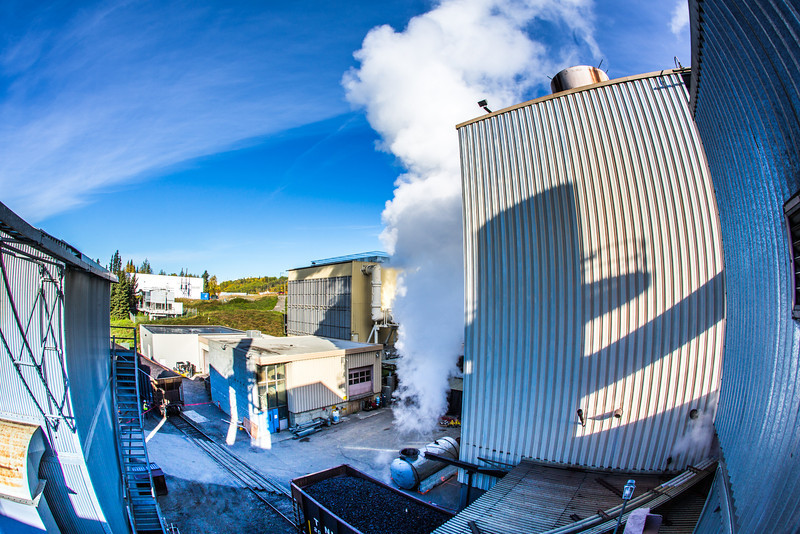 """High pressure steam is released from a tank near UAF's power plant in the Atkinson Building on the Fairbanks campus.  <div class=""""ss-paypal-button"""">Filename: CAM-12-3542-67.jpg</div><div class=""""ss-paypal-button-end"""" style=""""""""></div>"""