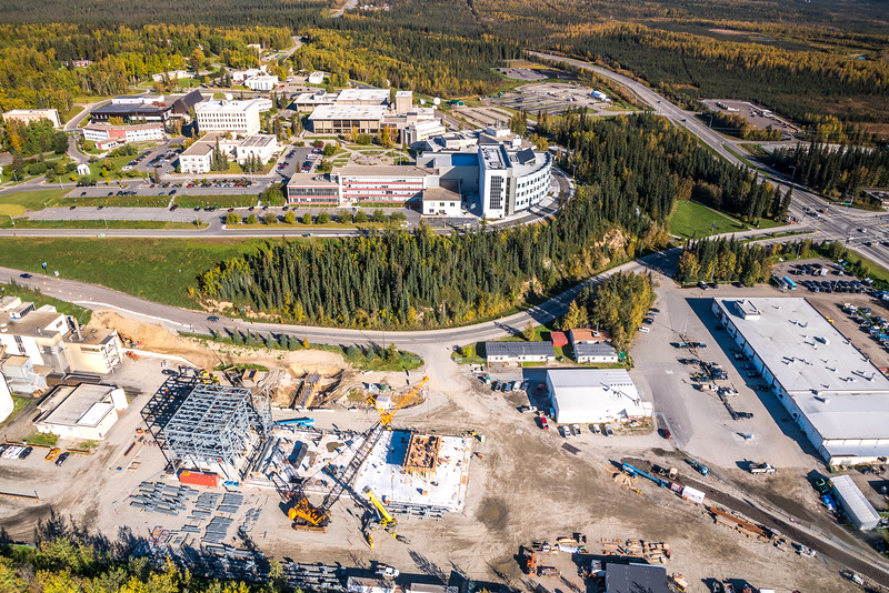 """An aerial view showing UAF's new combined heat and power plant being built adjacent to the existing unit that's been in service since the 1960s.  <div class=""""ss-paypal-button"""">Filename: CAM-16-4992-139.jpg</div><div class=""""ss-paypal-button-end""""></div>"""