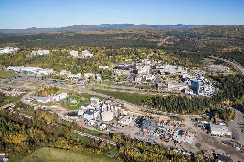 """An aerial view of UAF's new combined heat and power plant being built adjacent to the existing unit that's been in service since the 1960s.  <div class=""""ss-paypal-button"""">Filename: CAM-16-4992-071.jpg</div><div class=""""ss-paypal-button-end""""></div>"""