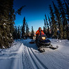 "Ski trails manager Jason Garron grooms the skate ski track on the UAF trails early on a cold February morning.  <div class=""ss-paypal-button"">Filename: CAM-16-4818-66.jpg</div><div class=""ss-paypal-button-end""></div>"