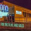 "Members of the Nanooks women's basketball team pose in front of the Patty Center Student during a late night promotional multi-media production introducing the Nanook Nation theme.  <div class=""ss-paypal-button"">Filename: CAM-13-3925-168.jpg</div><div class=""ss-paypal-button-end"" style=""""></div>"