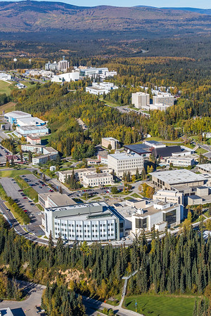 An aerial view of UAF looking northwest at about 11:20 on Sept. 10, 2016.  Filename: CAM-16-4992-078.jpg