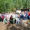 "Teri Viereck and Sherry Modrow pose for a photograph with the dedication party of the Les Viereck Nature Trail after the ceremony.  <div class=""ss-paypal-button"">Filename: CAM-12-3435-53.jpg</div><div class=""ss-paypal-button-end"" style=""""></div>"